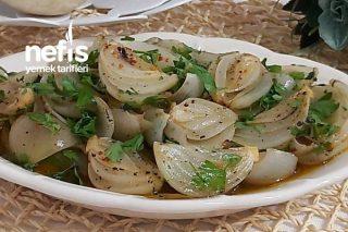 Nefis Közlenmiş Soğan Salatası (Tavuk Köfte  Et Yanına) Tarifi