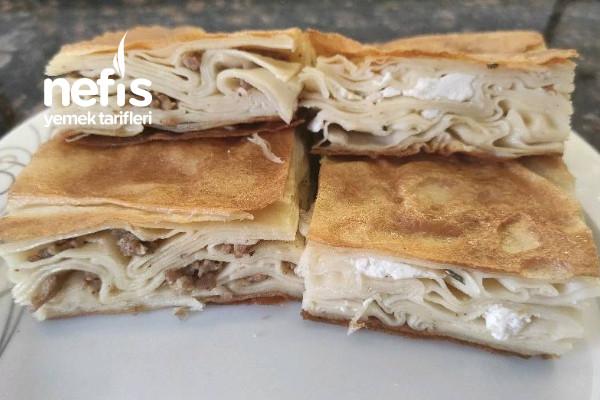 Su Böreği Tarifi (Kıymalı Ve Peynirli) Videolu