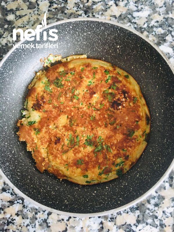 Yulaflı Omlet Börek (Kahvaltılık Fit Tarif, Çayın Yanına Fit Tarif)