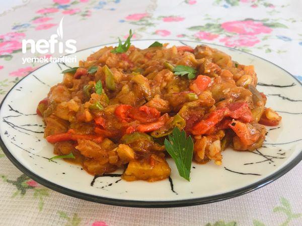 Köz Zeytinyağlı Patlıcan Yemeği (Sebze Yemeği, Ana Yemek, Meze)