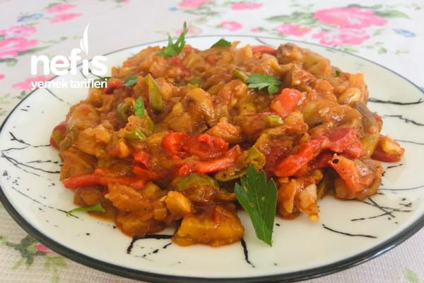 Zeytinyağlı Köz Patlıcan Yemeği (Ana Yemek, Sebze Yemeği, Meze)