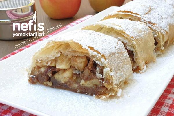 Tarçın Ve Elmalı Tatlı (Yiyen Bu Lezzete Aşık Oluyor,Videolu) (Apfelstrudel Avusturya) Tarifi