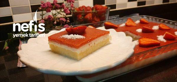 Çilekli Borcam Pastası