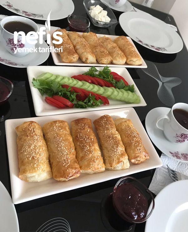 Kahvaltıya Peynirli Çıtır Börek