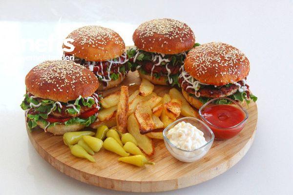 Tavuk Burger (Dışarda Yemeye Son)