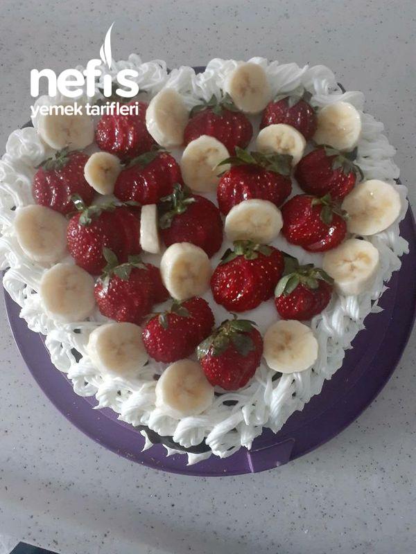 Evde Meyveli Yaş Pasta