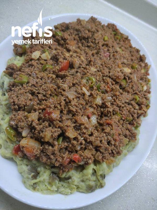 Kıymalı Alinazik Kebabı (Hünkar Beğendi)