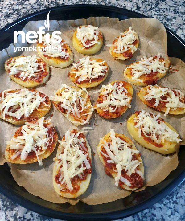 Pizza Tadında Patates Dilimleri