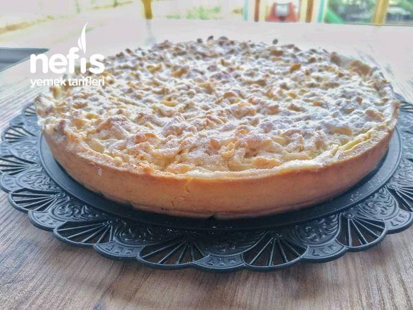 Elmalı Muhallebi Dolgulu Turta Pasta Tarifi (Videolu)