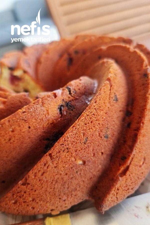 Frambuaz Ve Parça Çikolatalı Kek (Videolu)
