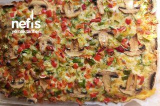 Pizza Tadında Biberli Börek (Ketojenik Beslenme) Tarifi