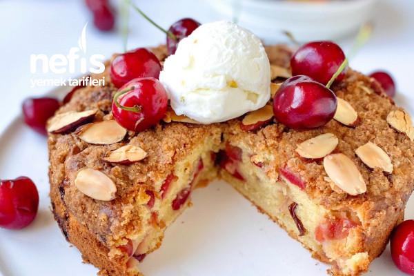 Kirazlı Crumble Kek