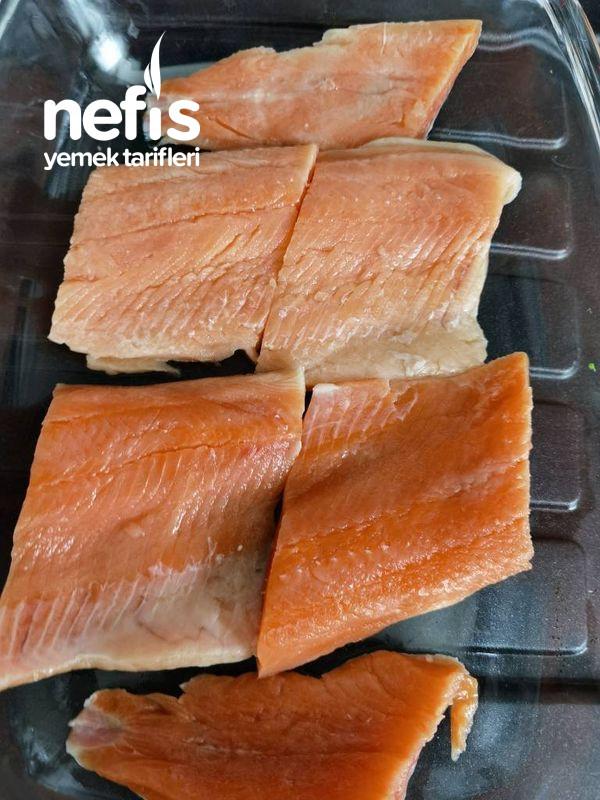 Fırında Kremalı Somon Balığı