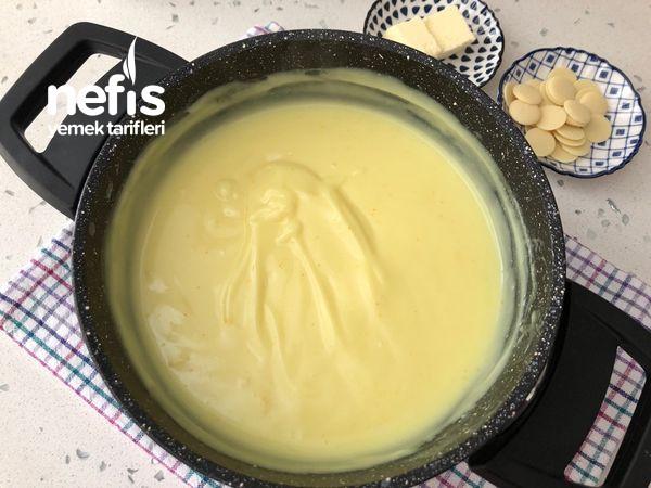 Limonlu Beyaz Çikolatalı Muhallebi Videolu
