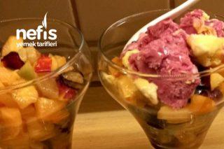 Meyve Salatası (Dondurmalı) Tarifi