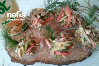 Etli Sebze Salatası Tarifi