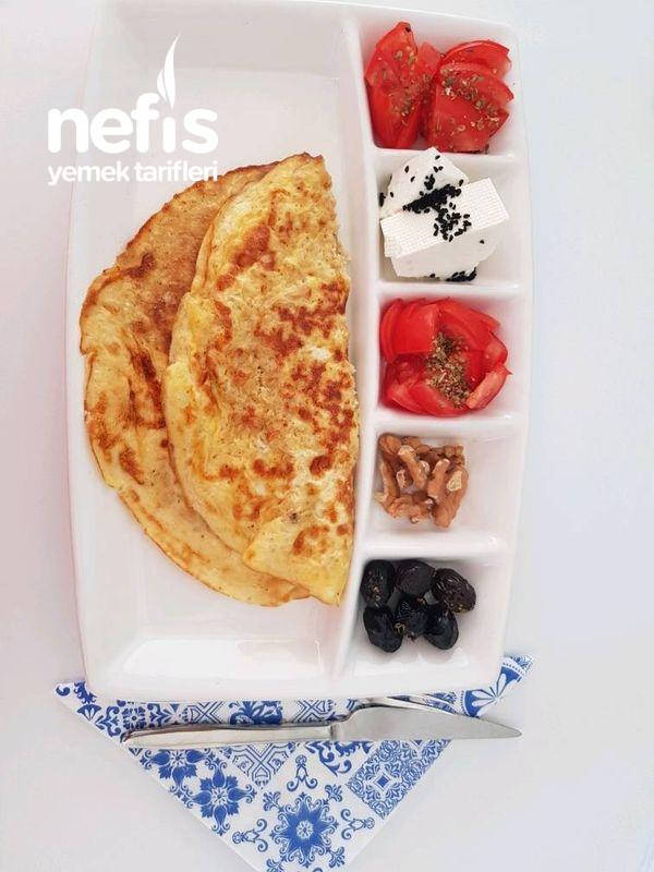 Sütlü Yulaflı Fit Omlet