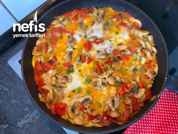 Mantarlı Sebzeli Omlet
