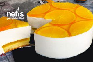Portakallı Cheesecake Üstelik Pişirme Derdi Yok (Videolu) Tarifi