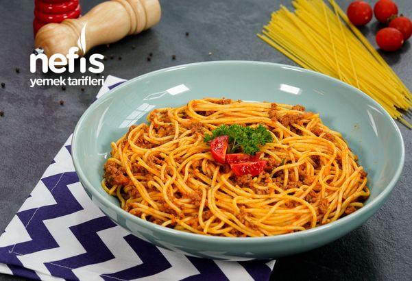 Bolonez Soslu ( Kıymalı) Spagetti Makarna