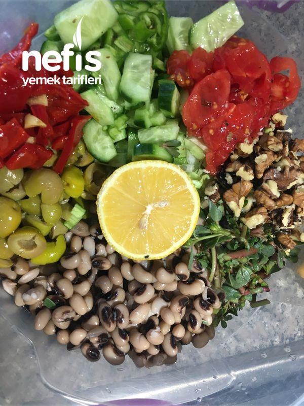 Diyetlere Uygun Doyurucu Enfes Börülce Salatası