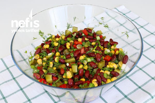 Meksika Fasülyesi Salatası-337561-080634