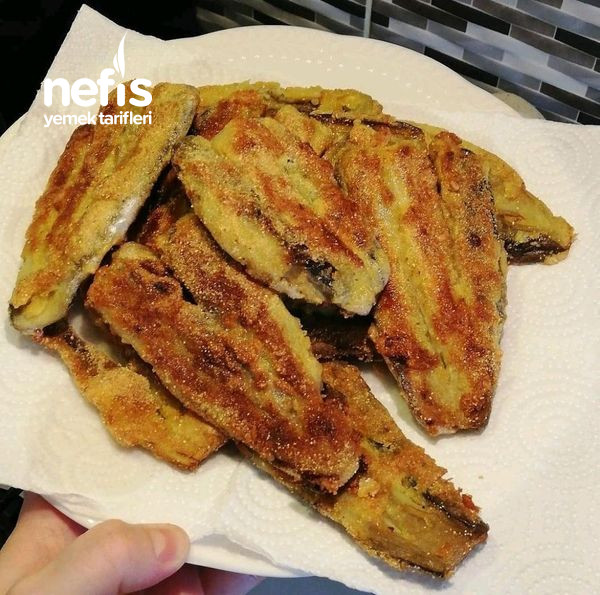 Patlıcan Balığı Mısır Unlu Patlıcan Kızartması