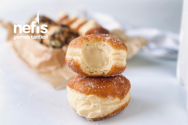 Püf Noktalarıyla Nutellalı ve Pastacı Kremalı Berliner (Brioche Donut)