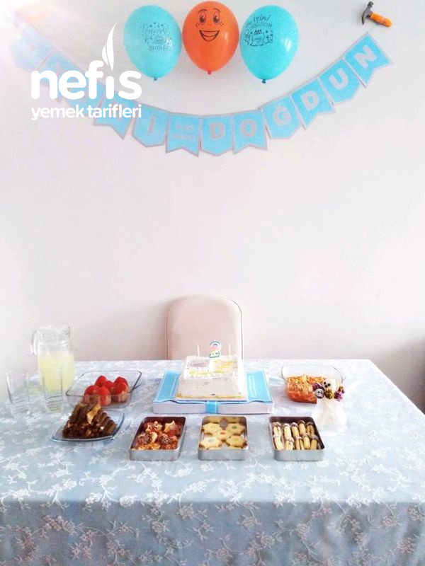 Oğulcuğum Mehmet Akifin Sade Doğum Günü Menüsü