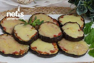 Peynirli Pizza Soslu Patlıcan Tarifi