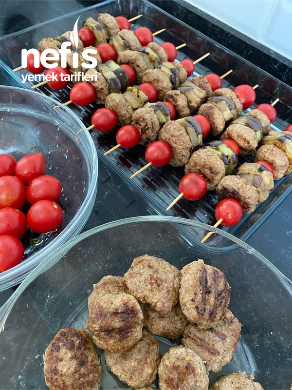 Şişte Patlıcanlı Köfte