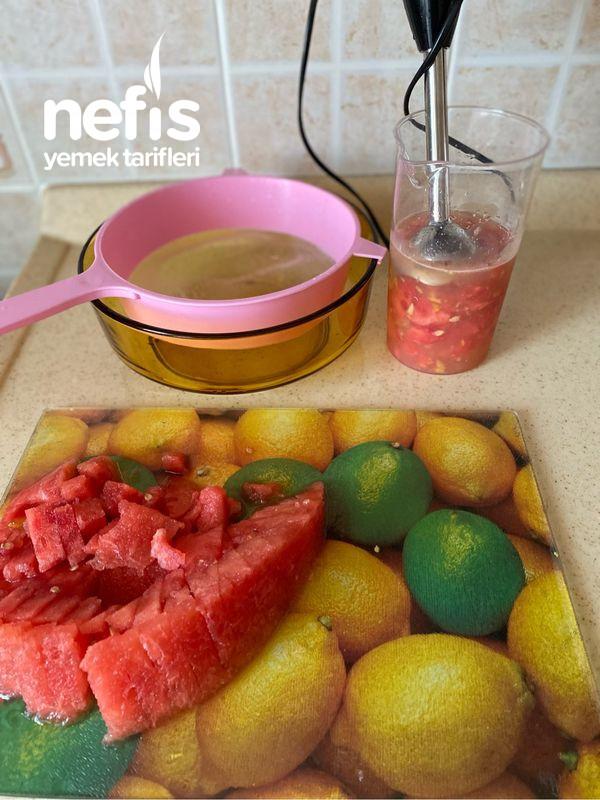 Karpuzlu Limonata (Sıcak Havlarda Mis Gibi Çocuklarada Güvenle İçirebilirsiniz)