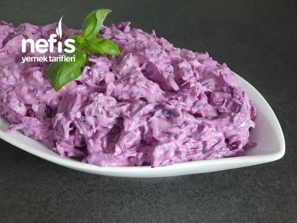 Enfes Mor Lahana Salatasi