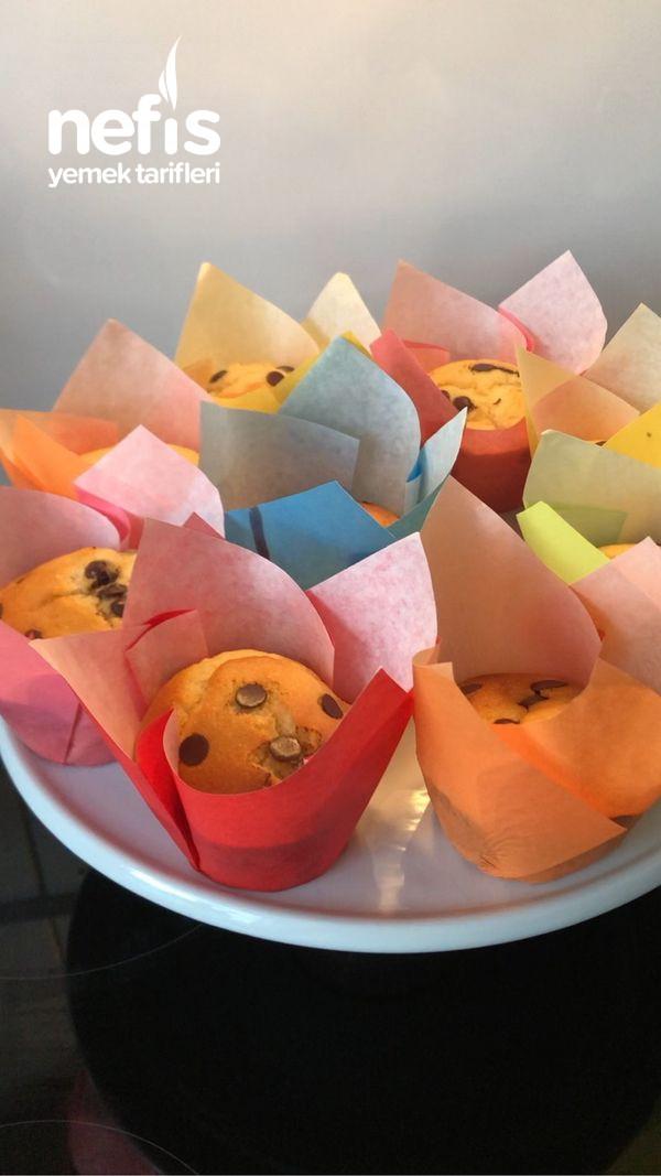 Kremalı Damla Çikolatalı Cupcake