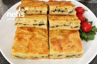 Ispanaklı Peynirli Kırpık Börek (Bir Gece Önceden Hazırlayıp Ertesi Gün Pişirebilirsiniz) Tarifi
