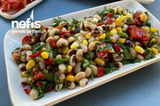 Kuru Domatesli Kuru Börülce Salatası Tarifi