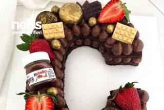 Bol Çikolatalı Harf Pasta Tarifi
