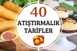 Az Malzemeli 40 Pratik Atıştırmalık Tarifi