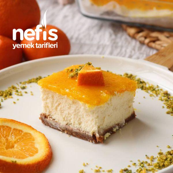 Borcamda Harika Portakallı Cheesecake (Videolu)