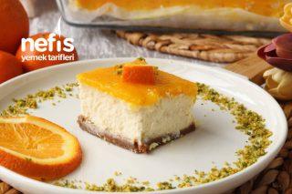 Borcamda Harika Portakallı Cheesecake (Videolu) Tarifi