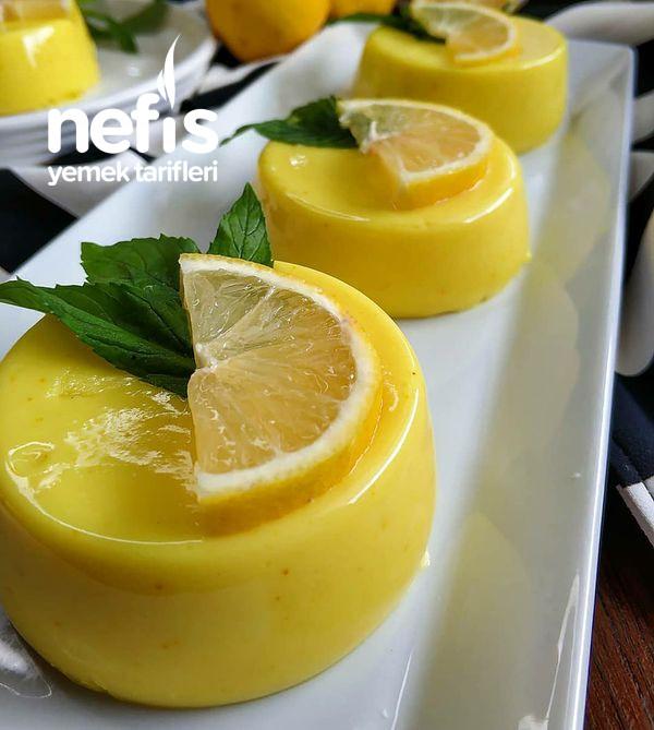 Limonlu Dondurma Tadında Muhallebi