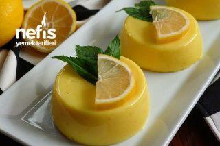 Limonlu Dondurma Tadında Muhallebi Tarifi
