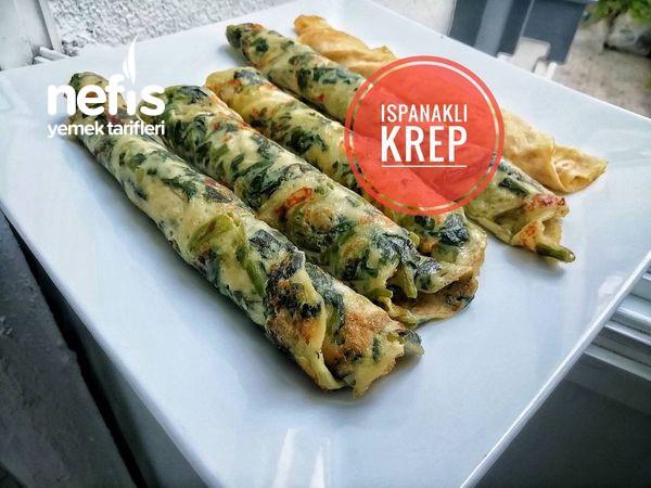 Börek Tadında Ispanaklı Krep Tarifi (Videolu)