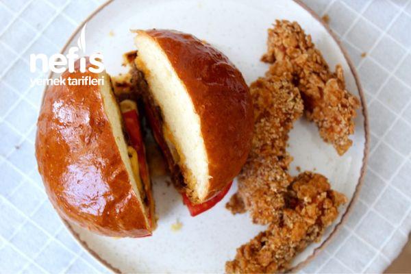 Ekmeğinden Köftesine Ve Çıtır Tavuğu İle Ev Yapımı Burger-9584395-160732