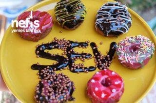 Frambuazlı Ve Çikolatalı Donut Tarifi