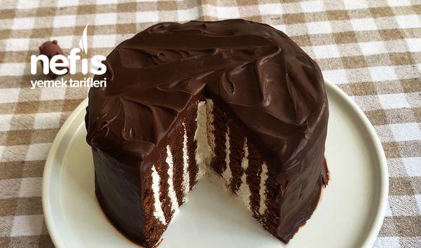 Duble Çikolatalı Kek (Videolu)