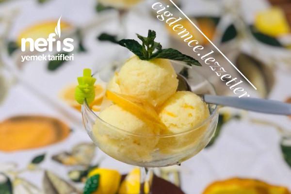 Limonlu Dondurma (Ev Yapımı) Pratik Enfes Aroması Harika Oluyor Deneyin Lütfen️
