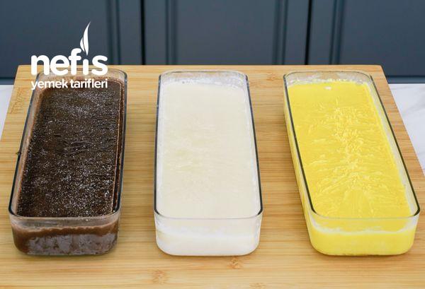 Tek Seferde 3 Çeşit Dondurma Tarifi (videolu)
