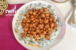 Bulgur Köfteli Nohutlu Semizotu Salatası Tarifi