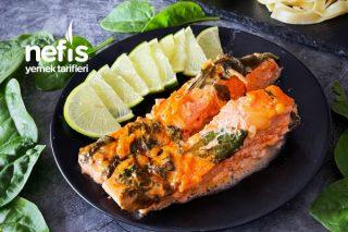 Kremalı Somon Balığı Tarifi